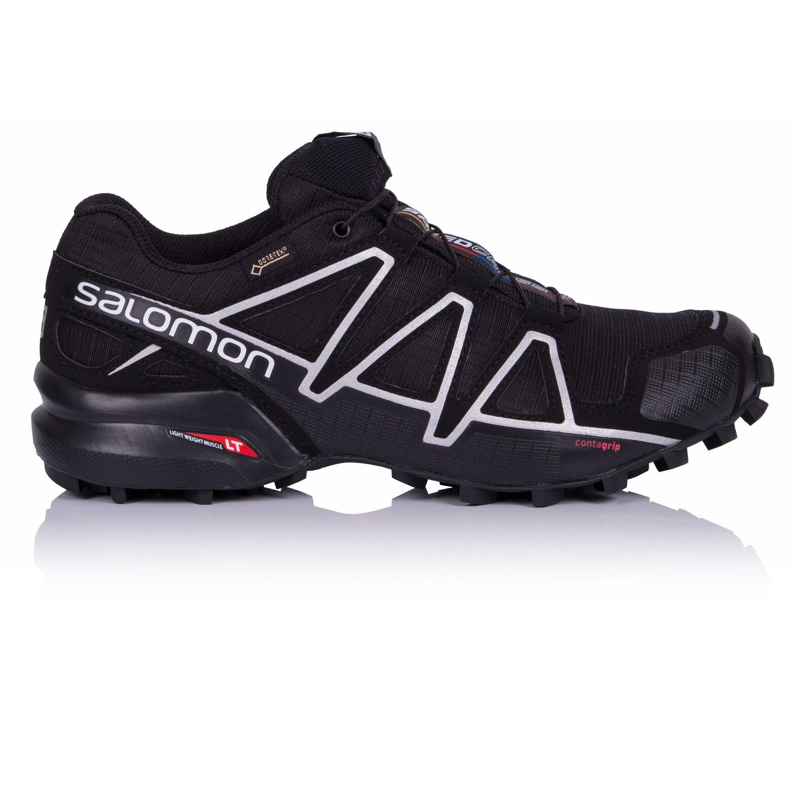Salomon Speedcross 4 de Hombre Negro Gore Tex Impermeable Running zapatos Trainers