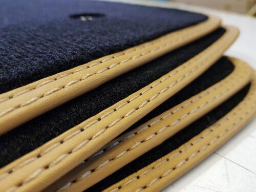 Alfombras tapices para Jaguar E-pace x540 original calidad gamuza bandeinfassung beige