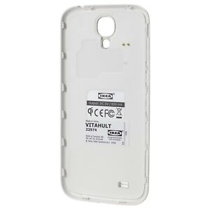 separation shoes 2aa87 b2b30 Details about IKEA VITAHULT Qi Wireless Charging Cover for Samsung Galaxy  S4 White