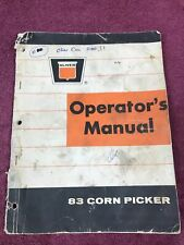 Oliver 83 Corn Picker Owners Manual