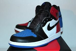 0947bede60250b Air Jordan Retro 1 I Top 3 Blue Red White Black Sneakers Men s Size ...