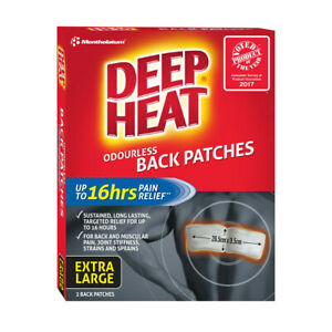 Deep Heat Odourless Back Patches Extra Large 2pk