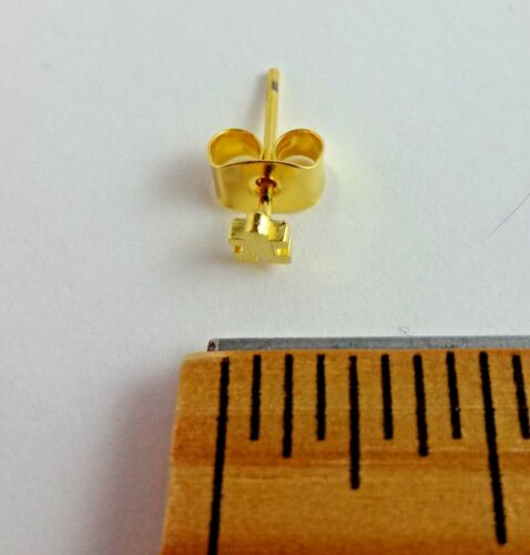 Puzzle Piece Earrings Small Butterfly Backs For Pierced Ears One Pair Autism