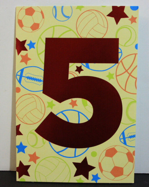 DAY SPRING Birthday Greeting Card 5 Years Old Boy