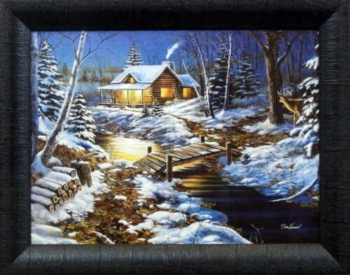 "19/"" x 15/"" Jim Hansel Woodland Retreat Cottage Studio Canvas Framed Print"