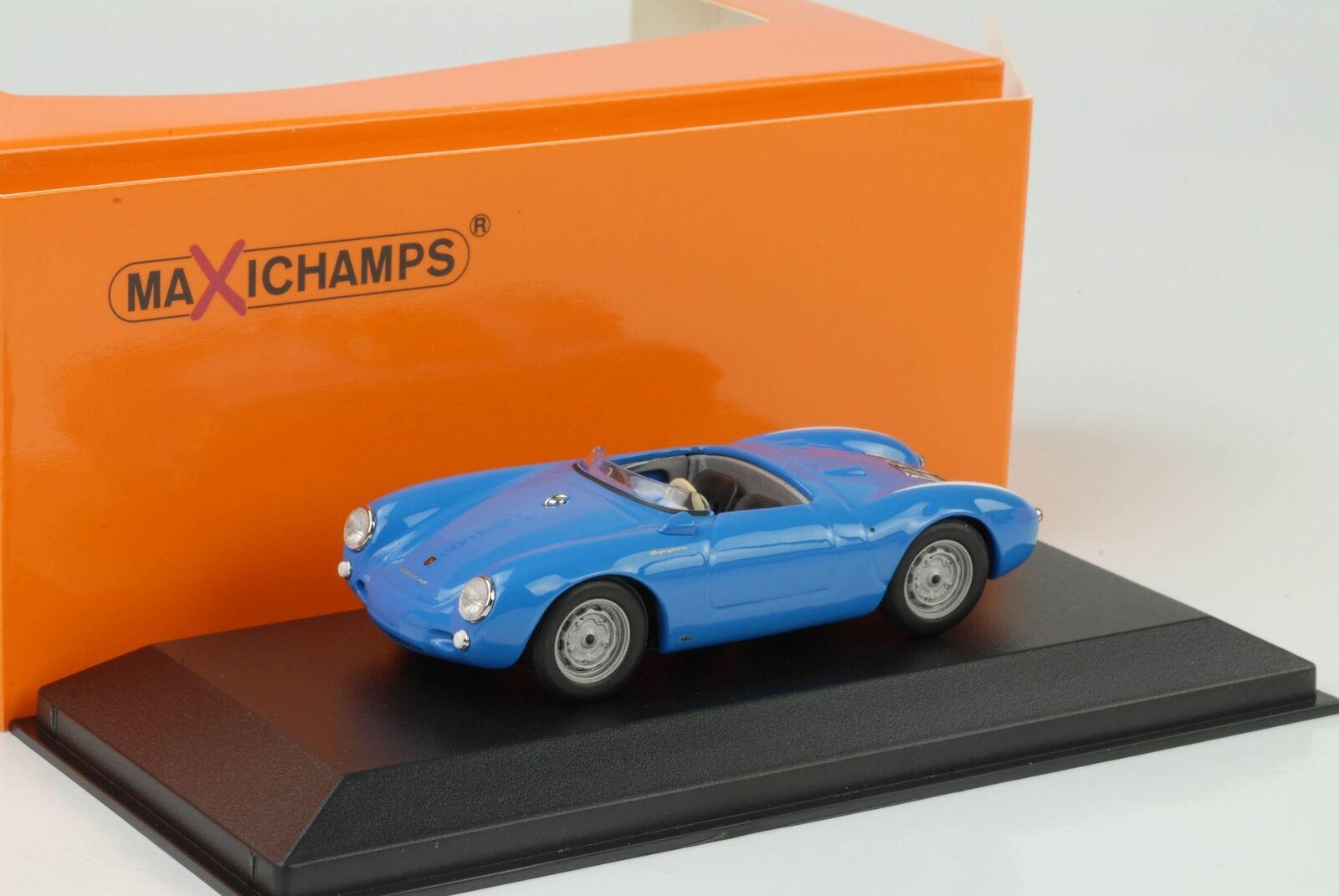 1955 Porsche 550 Spyder bluee 1 43 Maxichamps Minichamps