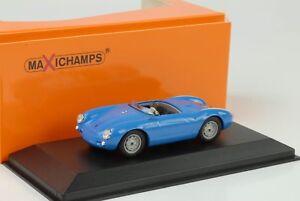 1955-PORSCHE-550-Spyder-bleu-1-43-maxichamps-Minichamps