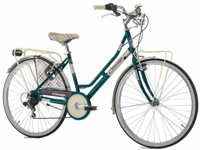 Bici Cinzia 26 Olanda Kilt Holland Cambio A 6 Velocita Verde Bottiglia