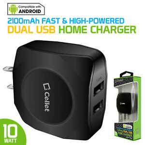 Universal High Power 2.1 Amp 2 USB Port Home Charger for Apple Samsung Moto Z LG