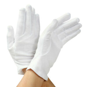 Skin-Care-White-Cotton-Gloves-Use-After-Application-of-Creams-Lotions