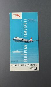 AUSTRIAN-AIRLINES-PRELIMINARY-TIMETABLE-NOVEMBER-1958-VICKERS-VISCOUNT-AUA