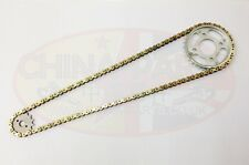 Heavy Duty Chain & Sprockets Set Gold for Lifan LF250-4 Motorcycle