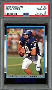 2001-bowman-164-DREW-BREES-new-orleans-saints-rookie-card-PSA-8