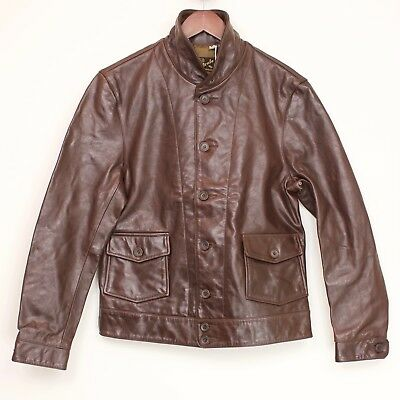 Levi S Vintage Menlo Cossack Brown Leather Jacket Size L For Sale Online Ebay