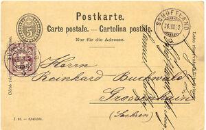 SCHWEIZ-034-SCHOFTLAND-034-seltene-K2-1892-5-C-schwarz-GA-Postkarte-m-5-C-lila