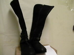 Details about Women UGG ESPLANADE 1004169 BLACK LEATHER RIDER BOOTS Size 11