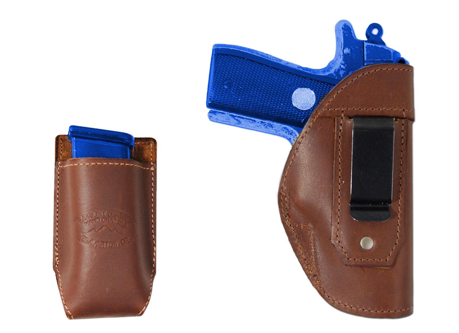 New Barsony Braun Leder IWB Holster + Mag Pouch Colt Ultra 380 Ultra Colt Compact 9mm 40 b1e7aa