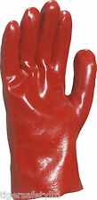 "12 Pairs Delta Plus Venitex PVC7327 27cm 11""  Red PVC Gloves Size 10 X-Large"