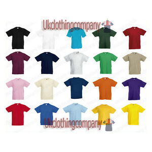 Fruit-of-the-Loom-Valueweight-Childrens-t-shirt-Kids-short-sleeve-ages-1-13