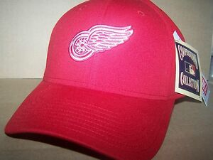 9be55e32d05fa Detroit Red Wings- STRETCH FITTED HAT CAP LARGE - RED TAGS NHL ...