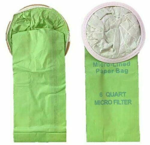10 Vacuum Bags Backpack 6 Qt ProTeam Windsor Nobles Perfect Oreck 6 Quart Bags