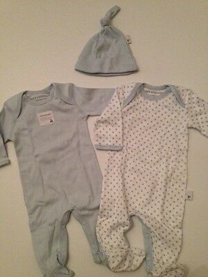 Burt/'s Bees Baby Organic Cotton Preemie Bodysuit Choice of Color//Print