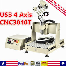 800w Vfd 4 Axis Cnc 3040 Router Engraver Drilling Milling Artwork Cutter Machine