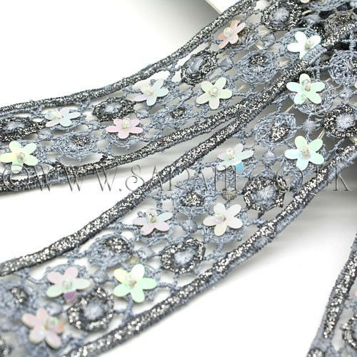 GREY SILVER bead TRIM Rhinestone trimming,edging,EMBELLISHMENT,costume,pageant