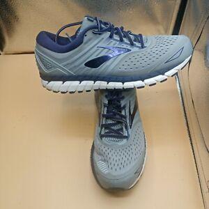 Brooks Beast 18 Grey Navy Running Shoes