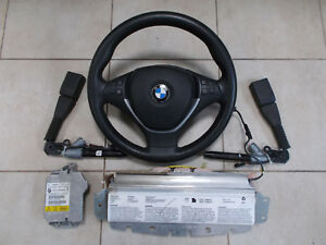 BMW X5 E70 X6 E71 ORIGINAL SET STEERING WHEEL AIRBAG MODULE BELT TENSIONER - Straszyn, Polska - Zwroty są przyjmowane - Straszyn, Polska