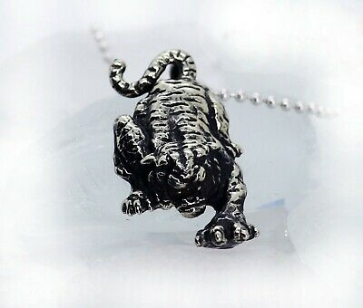 925 solid Sterling silver Majestic Tiger pendant