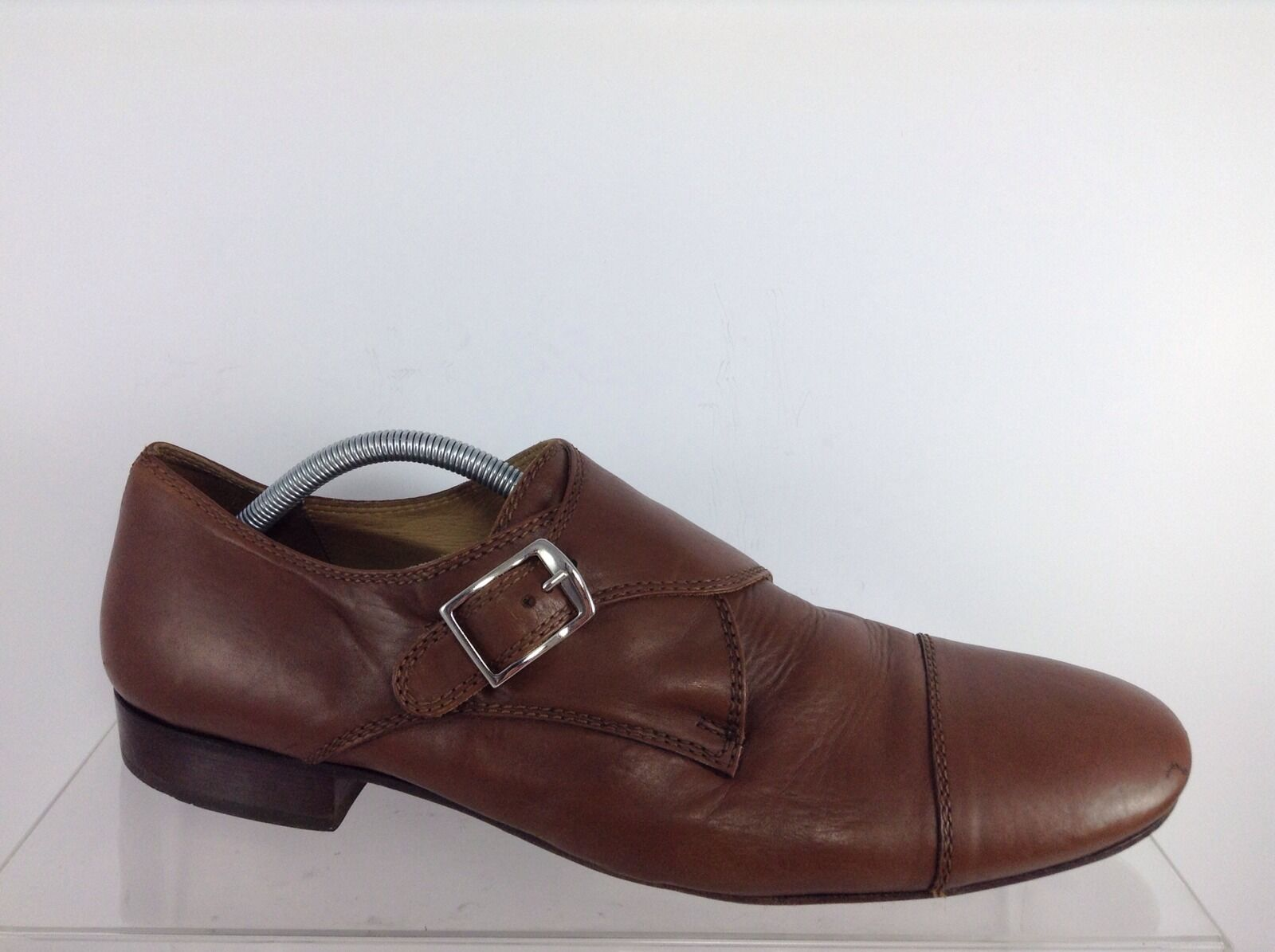 AGL Mens Brown Leather shoes 45