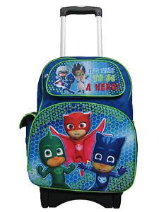 B17PJ34805 3D Pop Out PJ Masks Large Custom Rolling Backpack 17