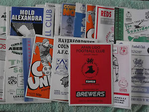 League of Wales Football Programmes 199697 onwards Welsh League - wolverhampton, West Midlands, United Kingdom - League of Wales Football Programmes 199697 onwards Welsh League - wolverhampton, West Midlands, United Kingdom