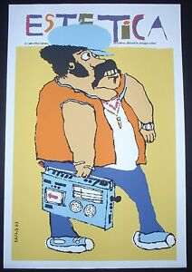 AESTHETICS-Cuba-Silkscreen-Poster-by-BACHS-for-Cuban-Movie-About-1980s-Fashion