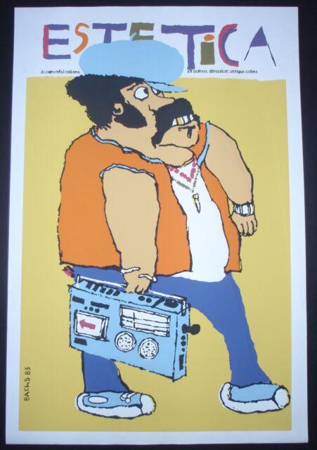 AESTHETICS /  Cuban Silkscreen Movie Poster / 1980s Fashion / CUBA ART by BACHS