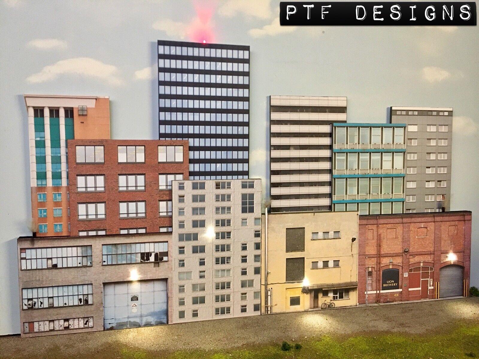 スケールスケールスクラッチ建てられた- 10の都市建物フラット3 Dコラージュ