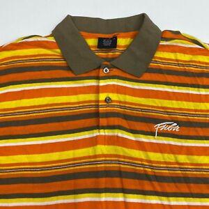 Fubu The Collection Polo Shirt Men's 2XL XXL Short Sleeve Striped 100% Cotton