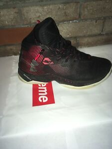 efae19b53e4 UA Curry 2.5 Black Red Elemental 1274425-001 Size 10 Retail  135