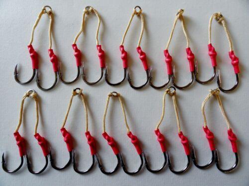 20 Taille 5//0 Assist Hooks Nickel Noir 5 Packs de 10 paires de 2