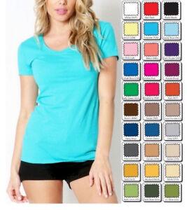 T-Shirt-Scoop-Short-Sleeve-Basic-Stretch-Zenana-Misses-Plus-S-M-L-XL-1X-2X