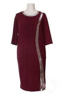 damen kleid Übergröße glitzer abendkleid bussinesskleid eventkleid gr 46  54  ebay
