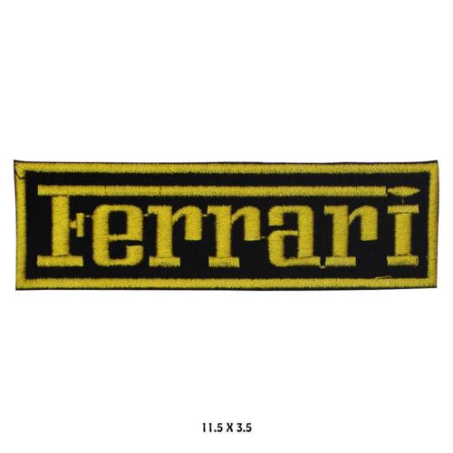 Ferrari Voiture Marque Logo Brodé à Repasser Patch à Coudre Pour Vêtements