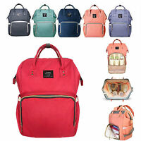 LAND Waterproof Mummy Changing Bag Baby Nappy Diaper Maternity Travel Backpack