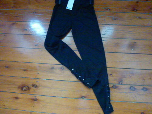 Lace Up Skinny Long Pants Leggings Black Size 10