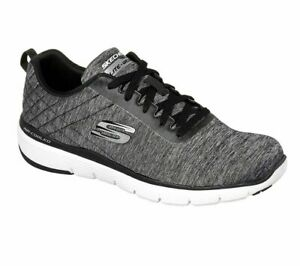 men's skechers black shoes memory foam sporty comfort