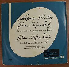 LP Vinyl Opera Vivaldi Bach concerto in G für 2 Manuale und Pedal Schuster 3128