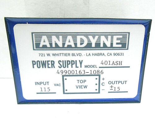 115 VAC// 15 VDC//60 HERTZ NEW OLD STOCK 49900163-1086 ANADYNE POWER SUPPLY