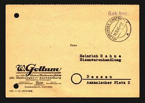 Germany-1945-034-GEB-BEZ-034-Stampless-Commercial-Cover-Z14087