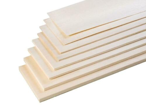Balsa Wood Sheet 457mm Long x 75mm Wide Select Thickness Pk of 2, 4 or 6